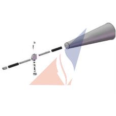 Клапан з розтрубом до пересувних вуглекислотних вогнегасників
