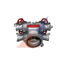 Разветвления, водосборники, сетки, ключи, гидроэлеваторы, переходники Рукавное четырехходовое разветвление РЧ-150