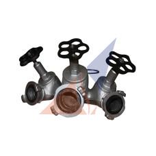 Разветвления, водосборники, сетки, ключи, гидроэлеваторы, переходники Рукавный трехходовый разветвлитель РТ-70