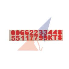 Комплектующие к гидрантам Набор цифр к знаку ПГ (ПВ)