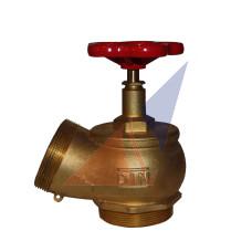 Краны, вентили пожарные Кран угловой латунный ПК-65  (нар-нар)