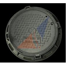 """Люк канализационного типа """"Т""""(С250) модификация №2 облегченный с надписью (7325109200)"""