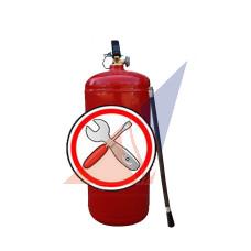 Перезарядка огнетушителей Замена шланга (раструба) к ОП