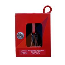 Ключница пожарная под 1 ключ (с молоточком)