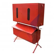 Стенд пожежний закритого типу з перекидним ящиком