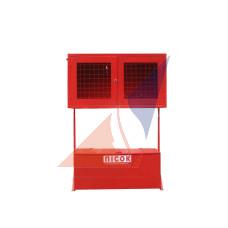 Стенд пожарный закрытого типа (решетка) с стационарным ящиком
