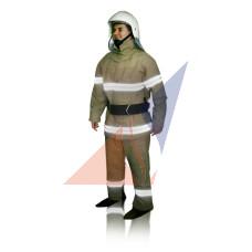 Одежда пожарного Костюм брезентовый с полосой (боевка)