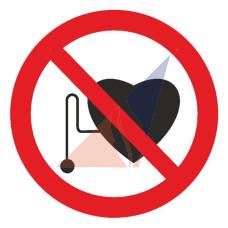 Запрещающие знаки Запрещается работа (присутствие) людей со стимуляторами сердечной деятельности