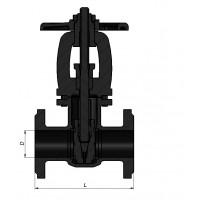 Засувка фланцева чавунна Д 150 (аналог 30ч6бр Ру 16)
