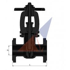 Засувка фланцева чавунна Д 100 (аналог 30ч6бр Ру 16)